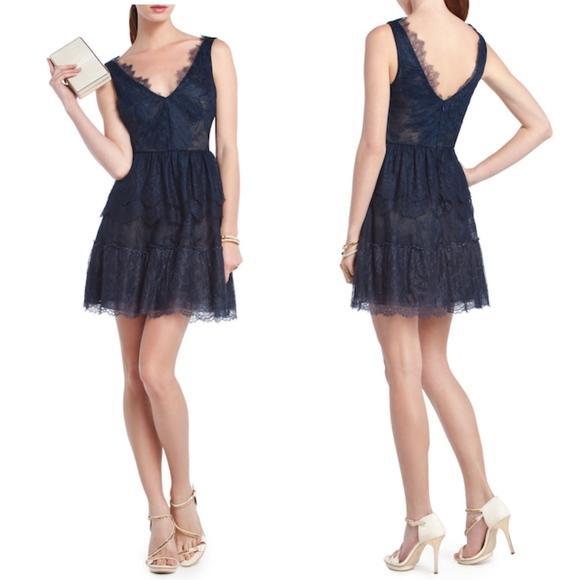BCBGMaxAzria Dresses & Skirts - NWOT BCBGMAXAZRIA Willa Carbon Lace Cocktail Dress